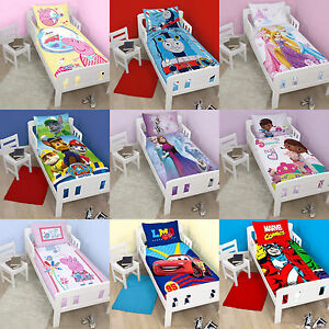 jungen m dchen junior kinderbett bettw sche sets kleinkind bettdecke baby. Black Bedroom Furniture Sets. Home Design Ideas