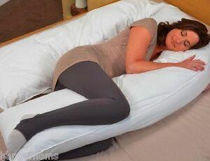20x130-White-Oversized-Total-Body-Maternity-Pregnancy-Pillow-U-Shape-New