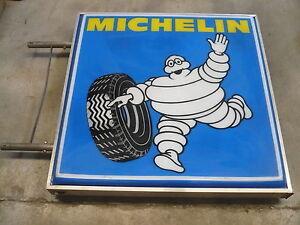 Michelin-luminous-sign-illumine-signe-ans-70-Neuf-dans-la-boite-Cartel-luminoso