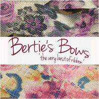 Berties Bows 38mm Floral Cut Edge Burlap Ribbon - 15% off 3-4 & 25% off 5+ P/M