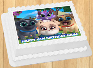 Excellent Edible Puppy Dog Pals Cake Topper Birthday Party Wafer Paper 1 4 Funny Birthday Cards Online Drosicarndamsfinfo