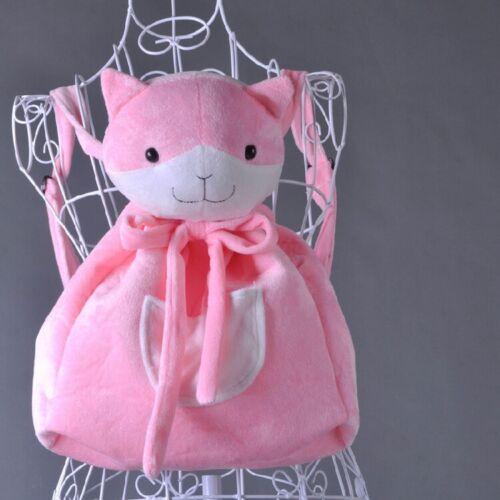 Dangan Ronpa Chiaki Nanami Cute Pink Plush Cat Doll Backpack Shoulder Bag