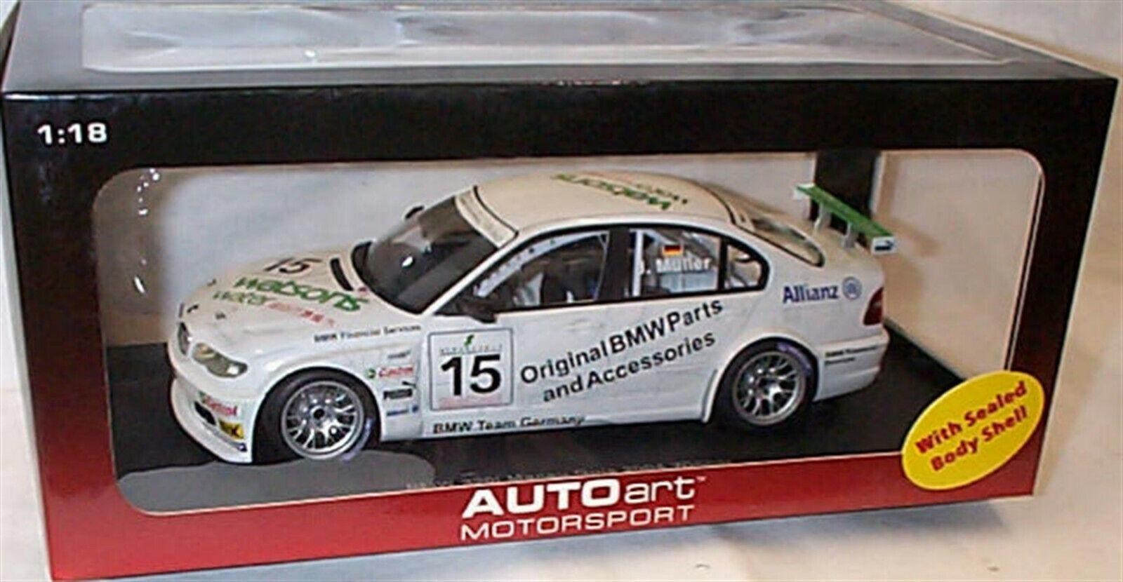 BMW 320i Macao Guia 2004 ganador J Muller Autoart 80449 Nuevo En Caja Escala 1-18