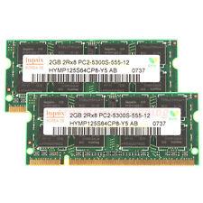 New Hynix 4GB 2X 2GB 2Rx8 PC2-5300S DDR2-667 667MHz 200pin Sodimm Laptop Memory