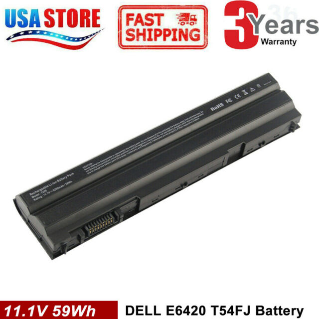 60Wh T54FJ E6420 Battery For Dell Latitude M5Y0X E5420 E6430 E6520 8858X NHXVW