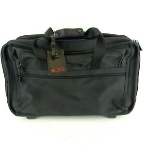 "Tumi Classic Black 2 Wheel Garment Carry On Bag 21"" 2277D3 Excellent Condition"