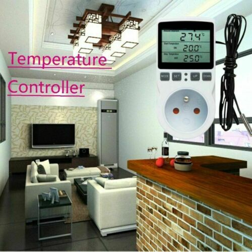 Digital Steckdosenthermostat Thermostat Steckdose Temperaturschalter EU Stecker