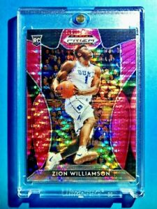 Zion-Williamson-RARE-PINK-REFRACTOR-ROOKIE-PANINI-PRIZM-INSERT-DRAFT-PICKS-RC-1