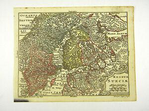 Skandinavien Karte Zum Ausdrucken.Details Zu Schweden Norwegen Skandinavien Altkol Kupferstich Karte Lotter 1762 Ad D916s