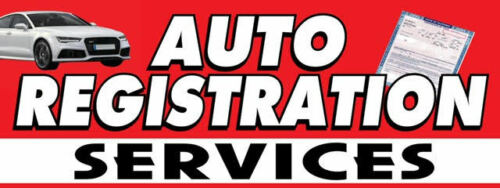 Auto Registration Services Vinyl Banner Size 30inch x 80inch
