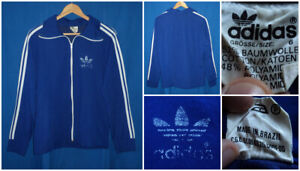 Adidas Europa Made In Brazil Felpa Vintage Hipster Gabber Tracktop Jacket