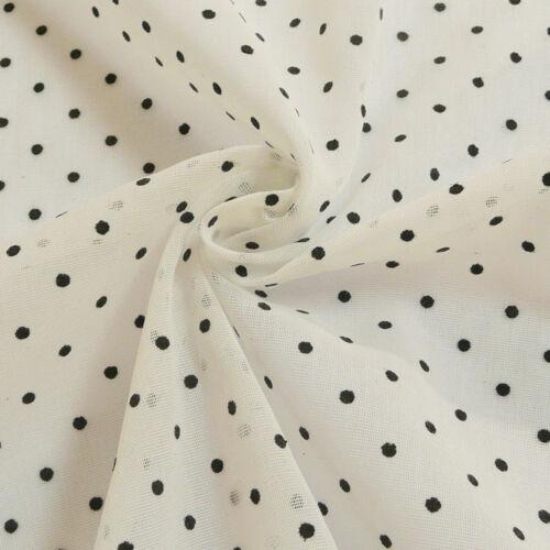 Tela de las cortinas stores lino estructura blanco con puntos negros 2,80m altura