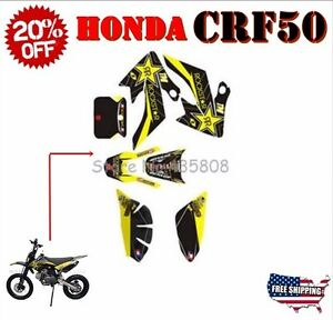 Graphics kits /& decals /& sticker Motorcycle Honda CRF50 dirt pit bike Parts