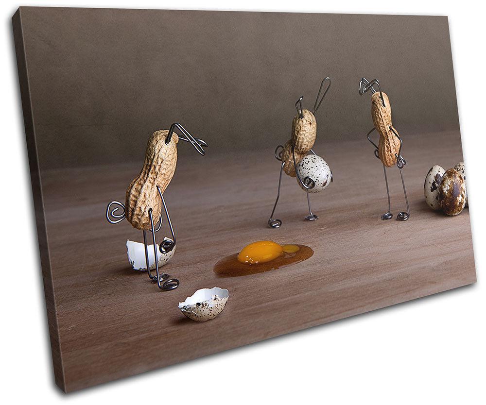 Peanut Men Eggs Food Kitchen SINGLE TELA TELA TELA parete arte foto stampa c5c840
