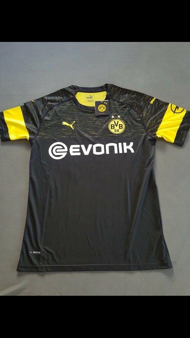 Original BVB Puma Auswärtstrikot 18 19 19 19 Gr. M schwarz gelb NEU Dortmund kurzarm 5bad4f
