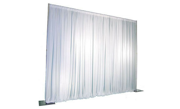 White velveteen drape 6m drop x 5m width 200g/m2- stage exhibiton theatre