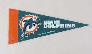 NFL-Miami-Dolphins-Mini-9-034-Football-Pennant-Rico-Tag-Express