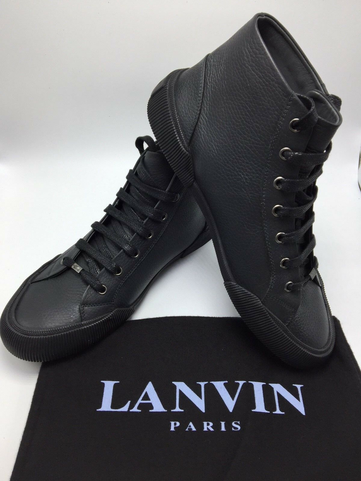 LANVIN Mid Top Think Sole Sneakers Size 7 New with Box