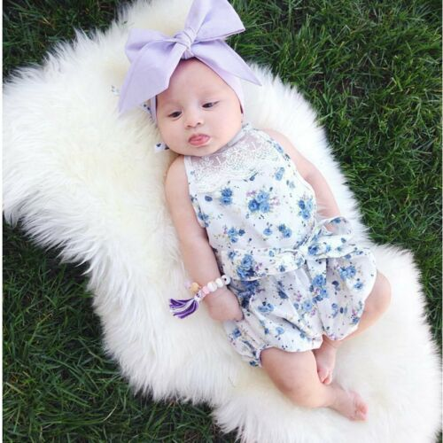 Newborn Infant Kids Baby Girl Floral Romper Bodysuit Jumpsuit Outfit Clothes Set