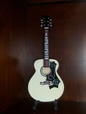 Mini Acoustic Guitar ELVIS PRESLEY GIFT Memorabilia FREE STAND Art Display