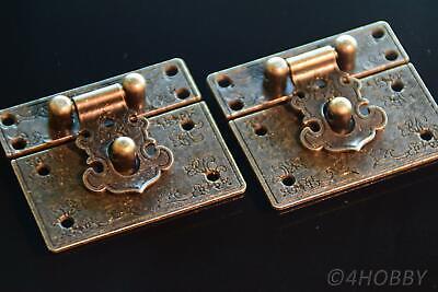 2 Verschlüsse Antik Abschließbar 55mm Schließe Schatztruhe Truhe Schatzkiste Alt Hohe Belastbarkeit