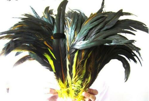 Wholesale 10-1000pcs 12-16 inches//30-40 cm natural rooster tail feathers DIY Hot