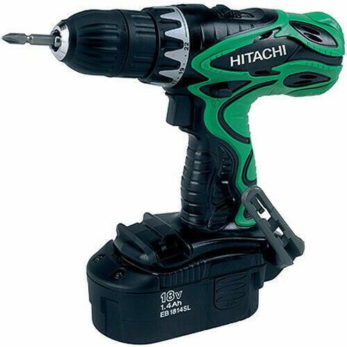 Hitachi DS18DVF3 18 Volt Ni-Cad 1//2 in Drill Driver Kit  w//Full Warranty