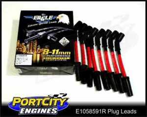 Eagle-Spark-Plug-Leads-10-5mm-Holden-Chev-V8-LS1-5-7L-VT-VX-VY-VZ-Red-E1058591R