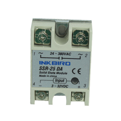 Inkbird todo propósito 25DA SSR Relé De Estado Sólido Para Regulador De Temperatura