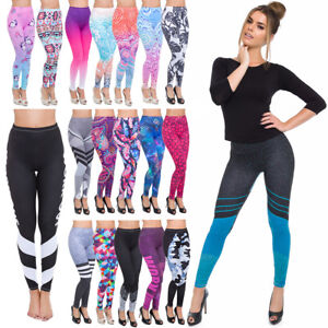 Full-Length-Sports-Leggings-Various-Designs-Womens-Gym-Running-Wokout-Pants-FFCP