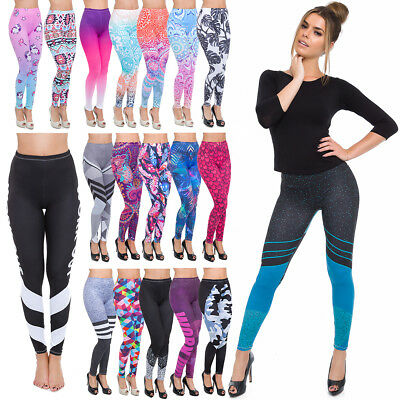Full Length Sports Leggings Various Designs Womens Gym Running Wokout Pants Ffcp