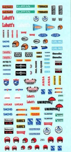 293 Decalbogen patrocinadores Rallye 60er-80er años 1:43
