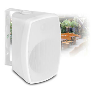 Details about White Wall Mountable Speaker Weatherproof 100v Line /8 Ohm  150W 6 5