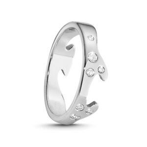 Image Is Loading Georg Jensen Fusion End Ring Ab 18k White