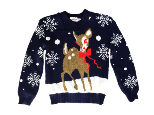 Kids Childrens CHRISTMAS JUMPER Xmas Girls Boys Retro Rudolph Winter Sweater New