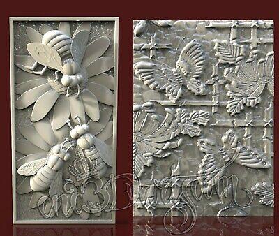 3D STL Model Japan Motive Panel CNC Router Carving Machine Artcam aspire Cut3D