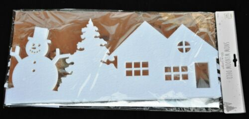 1 x Window Table  Border  TREES REINDEER Snowman  Xmas Decoration SNOW Runner