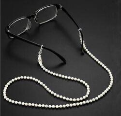 Brillenkette Brillenband Brillen Sonnenbrille Perlen weiß