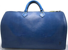 Louis Vuitton EPI Speedy 40 Tasche Bag Zeitlos Boston Elegant Blue Blau Bleu XL