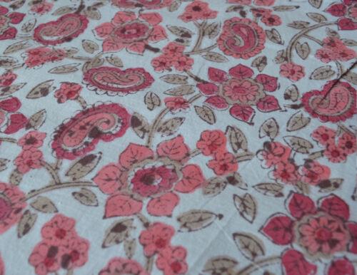 Indian Hand Block Print Running 100/% Cotton Fabric Vintage 3 Yard Loose Crafting