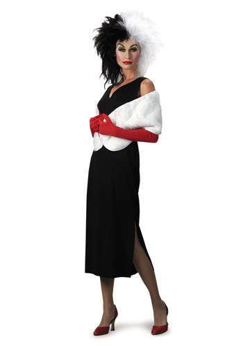 Womens Adult DISNEY Cruella 101 Dalmations Costume