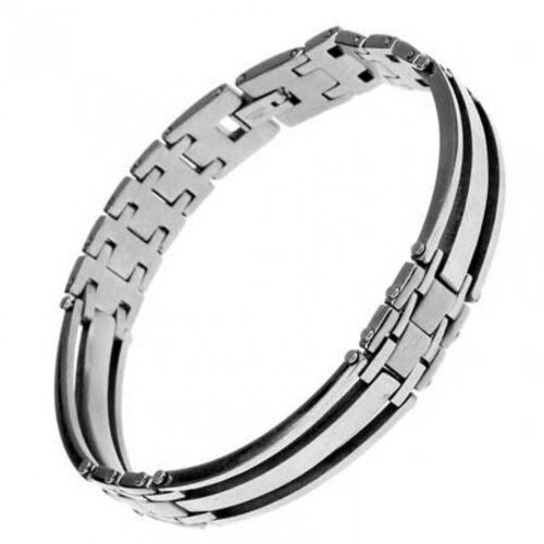 Armband Glieder als gebogene Stäbe High Tech Look Edelstahl