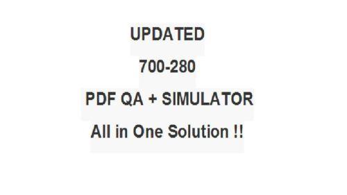 Cisco Email Security Field Engineer ESFE Test 700-280 Exam QA PDF/&Simulator