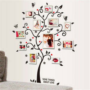 Family Tree Wall Decal Sticker Large Vinyl Photo Picture Frame