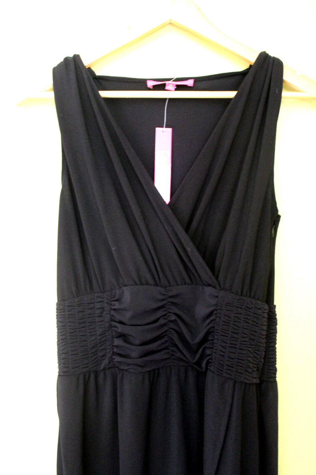 NWT Catherine Malandrino Sexy schwarz Raine V-Neck Smocked Knit Dress M
