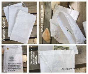 Details about WHITE Cotton DRAWSTRING BAGS SIZE 3x4, 3x5 ,3 25x5 , 5x7 ,  6x10, 10x12 inch