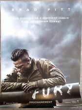 FURY Affiche Cinéma Preventive / Movie Poster 53x40 Brad Pitt Shia LaBeouf