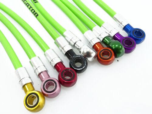 Magura MT-series froggy green disc brake hose w colored banjo ends *set*