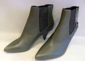 exclusive range special for shoe wide range MARKS & SPENCER Green Leather Ankle Boots Kitten Heel UK Size 6.5 ...