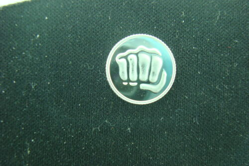 FIST 1 GRAM .999 FINE SILVER COIN ROUND BAR MARTIAL ARTS KARATE OR BOXING